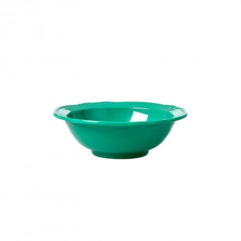 Melamine Bowl in New Look - Dark Green - Small