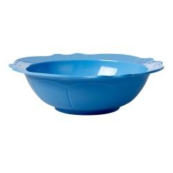 Insalatiera azzurra con bordi rifiniti