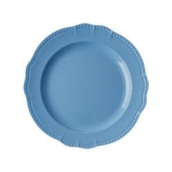 Piatto piano azzurro con rifiniture