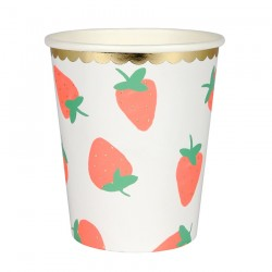 Strawberry Cups S/8