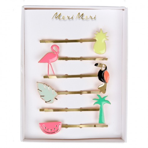 Tropical Enamel Hairclips