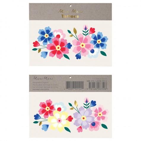 Kashmiri Flowers Tattoo