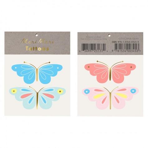 Neon Butterfly Tattoo