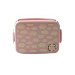 Lunchbox rosa con divisore interno