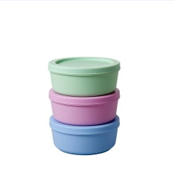 Interlocking Food Boxes in Assorted Colors - Set of 3