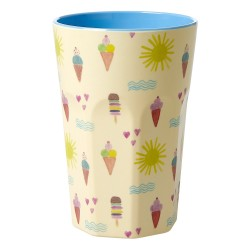 Melamine Cup with Summer Print - Two Tone - Tall