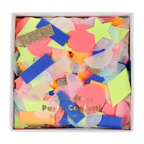 Rainbow Party Confetti Shapes