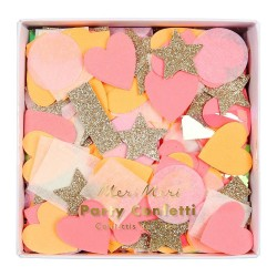 Pink Party Confetti Shapes