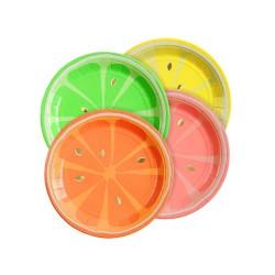 Neon Citrus Plates Sm S/8