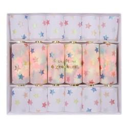 Multi Star Confetti Crackers Pk/6
