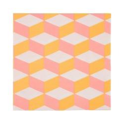 Tovaglioli con trama geometrica rosa e arancione
