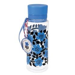 Borraccia fiori neri e blu