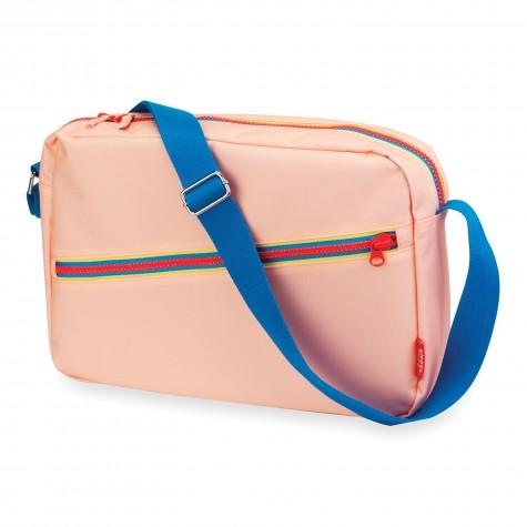 Borsa a spalla zipper rosa