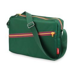 Borsa a spalla zipper verde
