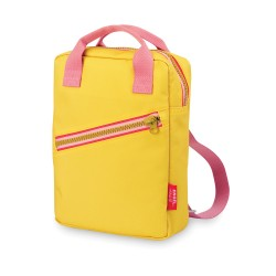 Zainetto zipper giallo