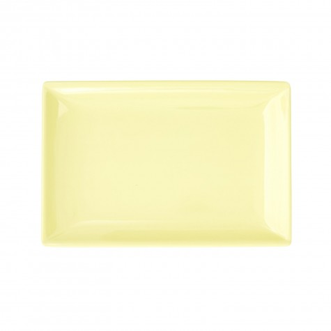 Piatto rettangolare piccolo, giallo