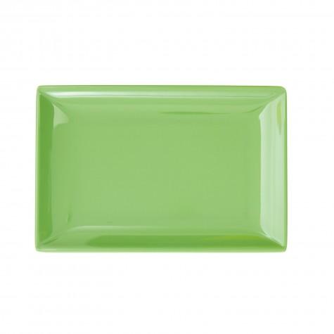 Piatto rettangolare piccolo, verde