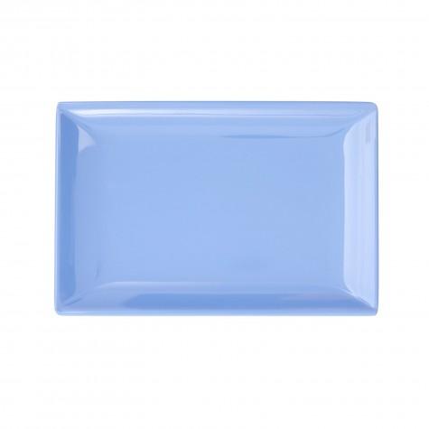 Piatto rettangolare piccolo, blu