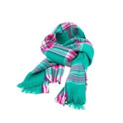 Sciarpa con motivo scozzese verde scura