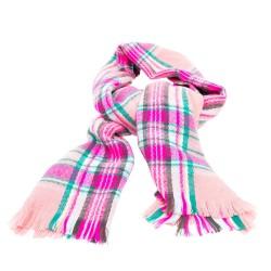 Sciarpa con motivo scozzese rosa