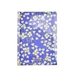 Quaderno A5 blu con fantasia fiori