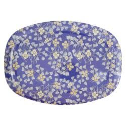 Piatto ovale con fantasia fiori