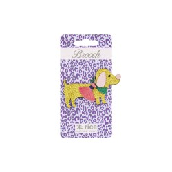 Spilla glitterata a forma di cagnolino