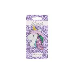 Spilla glitterata a forma di unicorno