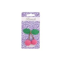Spilla a forma di ciliegia