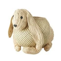 Contenitore in rafia a forma di coniglio