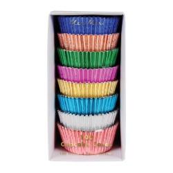 Metallic cupcake cases