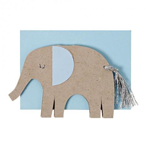 Biglietto nascita bimbo con elefante