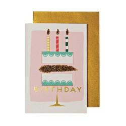 Biglietto Buon Compleanno con torta