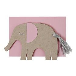 Biglietto nascita bimba con elefante