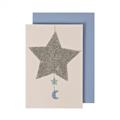Biglietto per nascita bambino con stella