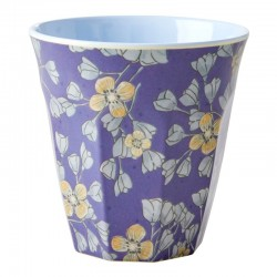 Bicchieri in melamina con fantasia fiori gialli