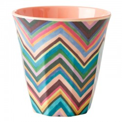 Bicchiere in melamina con fantasia zigzag