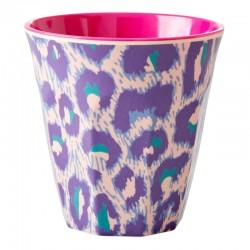 Bicchiere in melamina con fantasia leopardata