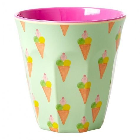 Bicchiere in melamina con fantasia gelati