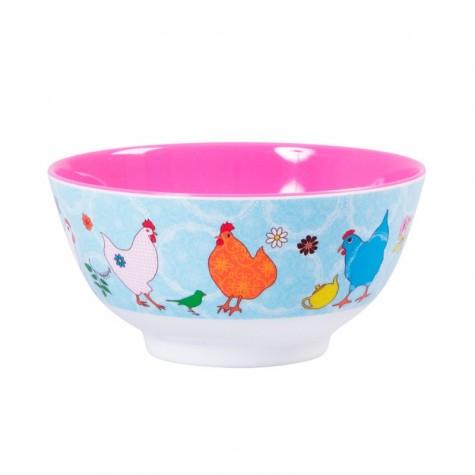 Tazza per la colazione con fantasia galline