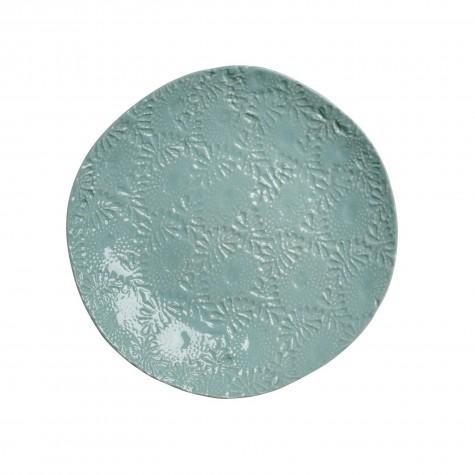 Piatto piano in ceramica color menta