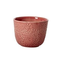 Mug in ceramica color corallo