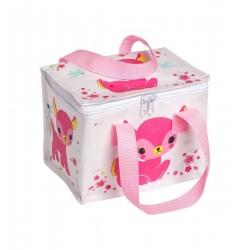Pink deer cool bag
