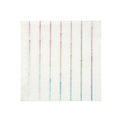 Tovagliolini di carta a righe olografiche