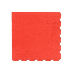 Tovagliolini di carta colore rosso
