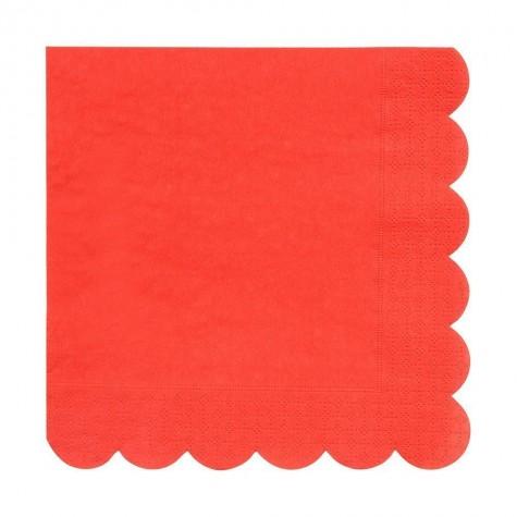 Tovaglioli di carta colore rosso