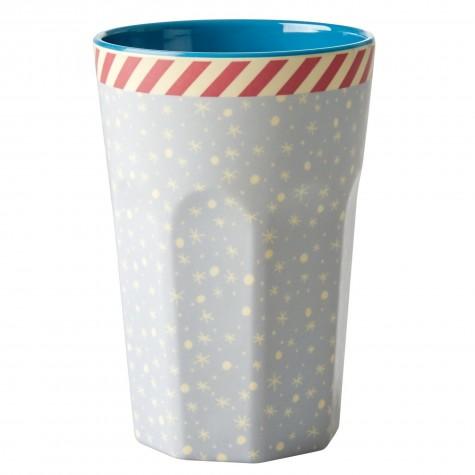 Bicchierone latte fantasia fiocchi di neve