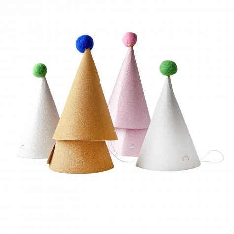 Cappellini glitter con pompom