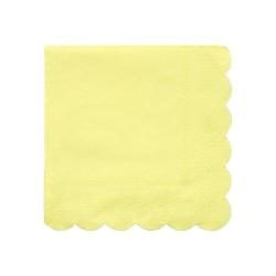 Tovagliolini di carta color giallo