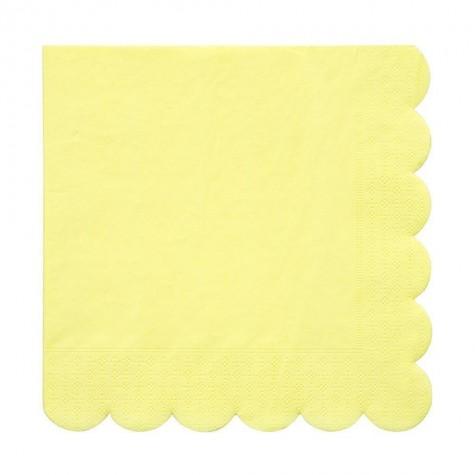 Tovaglioli di carta color giallo